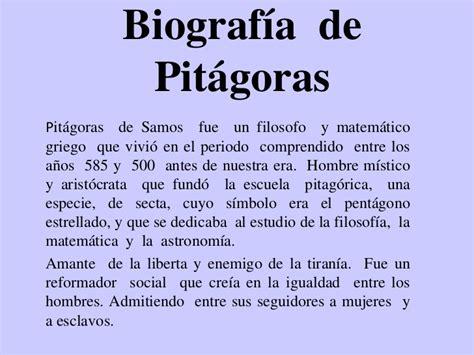 Biografia De Resumen by Pitagoras