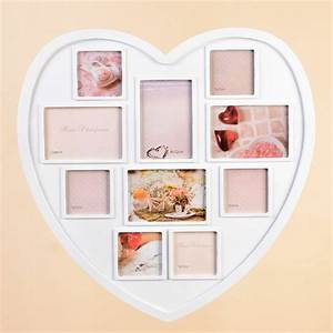 Large, Heart, Shaped, Photo, Frame, White, Hanging, Multi, Picture