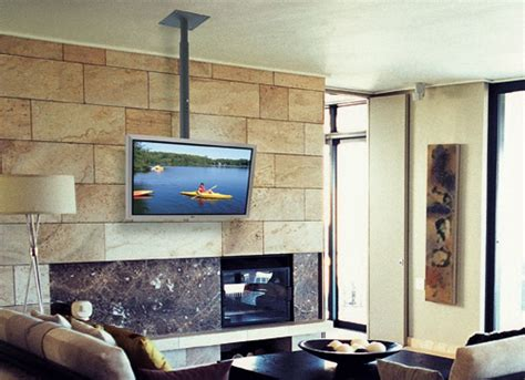 Hang A Tv A Fireplace by 9 Smarter Spots For The Tv For The Home Tv Ceiling