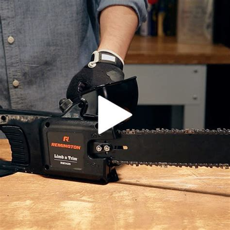 How to Add Bar and Chain Oil   Remington Chainsaw Maintenance