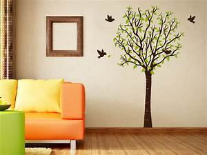 Baum Für Wohnzimmer : stilvoller wandtattoo baum ~ Michelbontemps.com Haus und Dekorationen