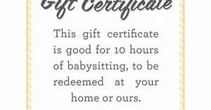 Homemade Coupons For Boyfriend Ideas Babysitter Date Night Printable Babysitting Gift