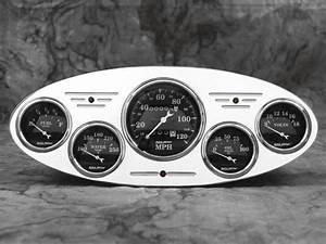 32 Ford Car Billet Aluminum Gauge Panel Dash Insert Instrument Cluster