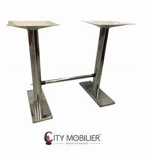 Pied De Table En Acier : double pied de table en acier tavo city mobilier ~ Teatrodelosmanantiales.com Idées de Décoration