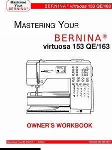 Bernina Virtuosa 153 Qe Owners Manual 820201 Manualslib