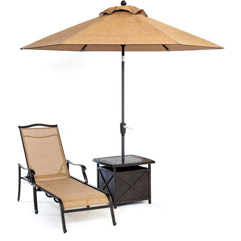 chaise table monaco chaise lounge chair with side table and umbrella
