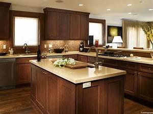 Elegant White Shaker Kitchen Cabinets With Dark Wood
