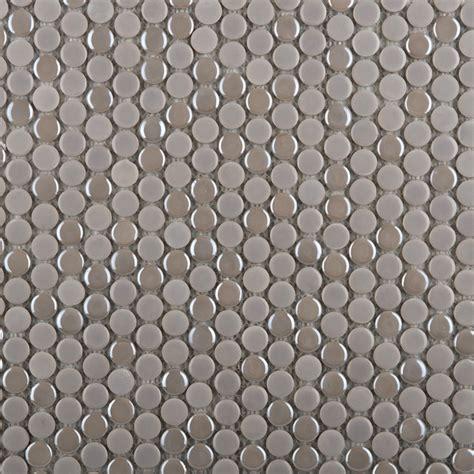 shop emser confetti penny round silver glazed porcelain