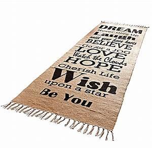 Teppich Stern Beige : teppich spr che beige schwarz gr sse 70 x 200 cm ~ Whattoseeinmadrid.com Haus und Dekorationen