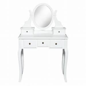 Coiffeuse Blanche Ikea : schminktisch wei 5 schubladen spiegel preiswert d nisches bettenlager ~ Teatrodelosmanantiales.com Idées de Décoration