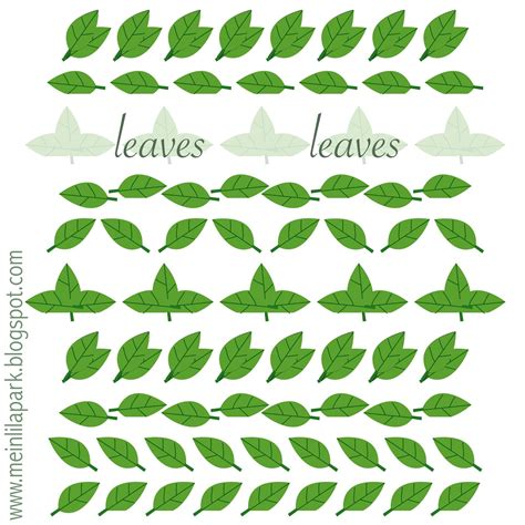 printable green leaves printable  degree