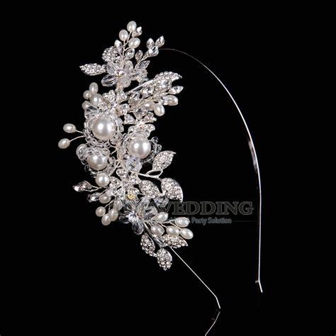 perle tiara diadem haarreif haarband brautschmuck
