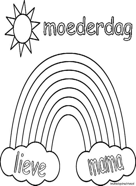 Leuke Kleurplaten Voor Moederdag by Kleurplaat Regenboog Moederdag