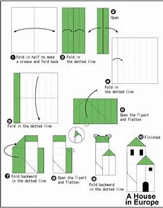 Instruction Origami Nature Origami European House