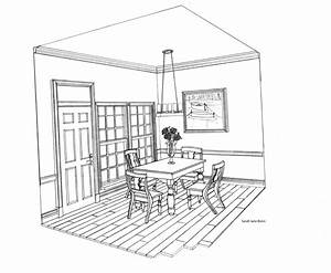 two point perspective drawing room - Google Search ...