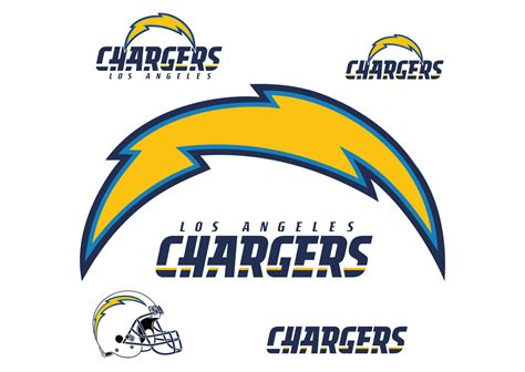 los angeles chargers logo giant officially licensed nfl