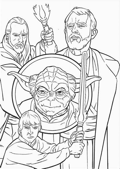 Coloring Pages Wars Star Characters Draw Rogue