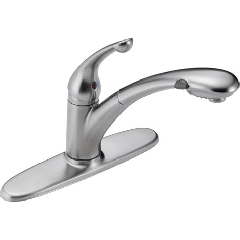 delta kitchen faucet replacement spray delta faucet 470 ar dst signature arctic stainless pullout