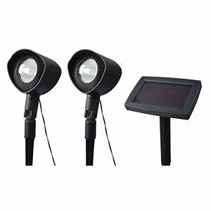 Moonrays solar powered landscape spot light with remote