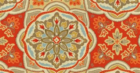 Home Decor Print Fabric- Waverly Tapestry Tile Clay At