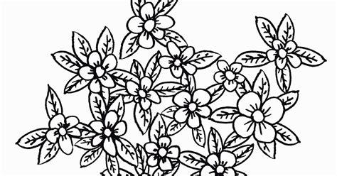 mewarnai gambar bunga sederhana bergerombol