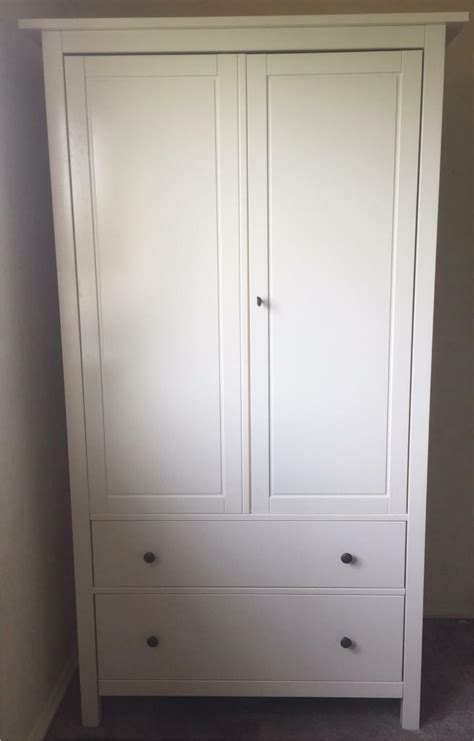 Hemnes Armoire by Ikea Hemnes Wardrobe With Lock White In Dunfermline