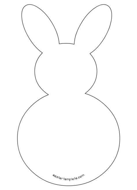 easter bunny template outlines of easter bunny happy easter 2018