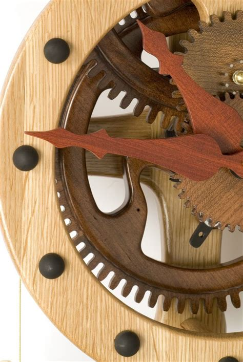 wooden gear clock plans  woodworking projects plans  pinterest wooden