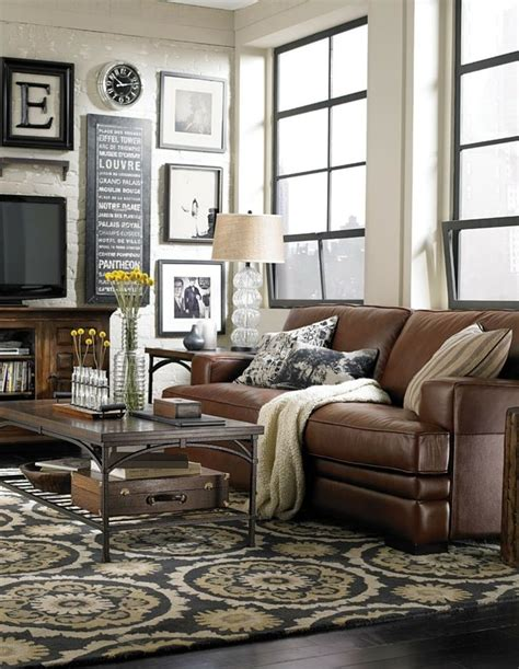 leather sofa living room ideas decorating around a brown couch decorating around brown