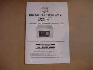 digital electric safe model 93575 by bunker hill safes ebay