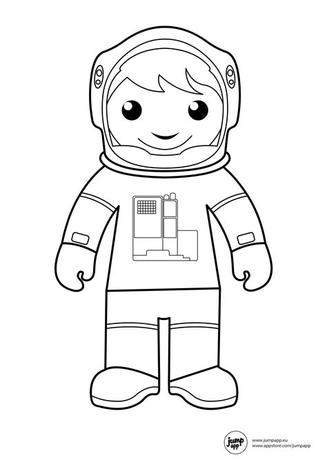 Astronaut Printable Coloring Pages Pinterest