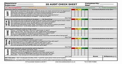 Audit 5s Sheet Check Template Pdf