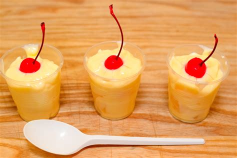 pineapple upside  cake pudding shots  steps