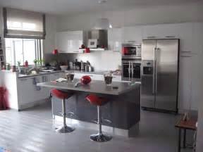 deco cuisine grise et d 233 coration cuisine blanc et grise exemples d am 233 nagements
