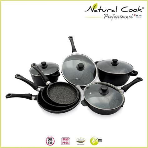 batterie cuisine en batterie 7 pièces en cook by stove achat