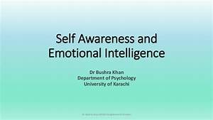 Self Awareness and Emotional Intelligence
