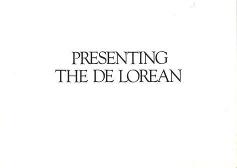 eighties icon  dmc de lorean brochure hemmings daily
