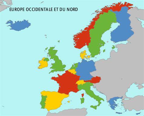 Europe Occidentale Carte by Europe Occidentale Et Du Nord Carte