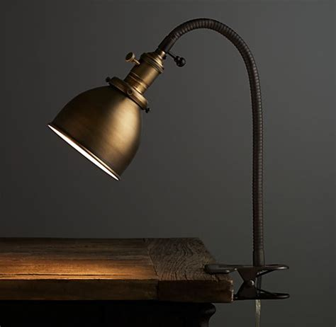 industrial era task clip l antique brass