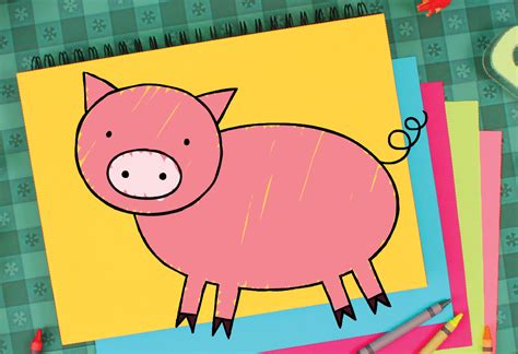 draw  pig super simple