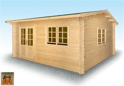 kit chalet en bois chalet en bois en kit mod 232 le hiba 25 m2 en madriers de 44 mm