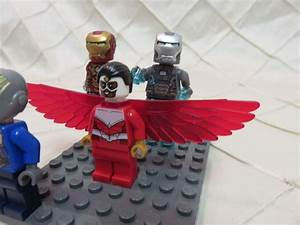 Lego Minifigures Marvel Falcon, Iron Man, War Machine