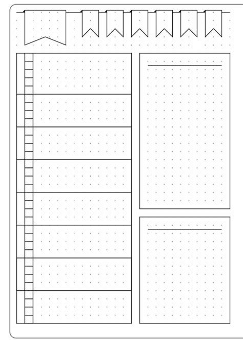 Bullet Journal Dotted Templates by Simple Weekly Layout Template Kate Louise