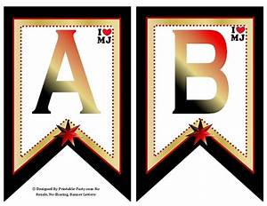 michael jackson party supply printables vip lights With banner letters michaels