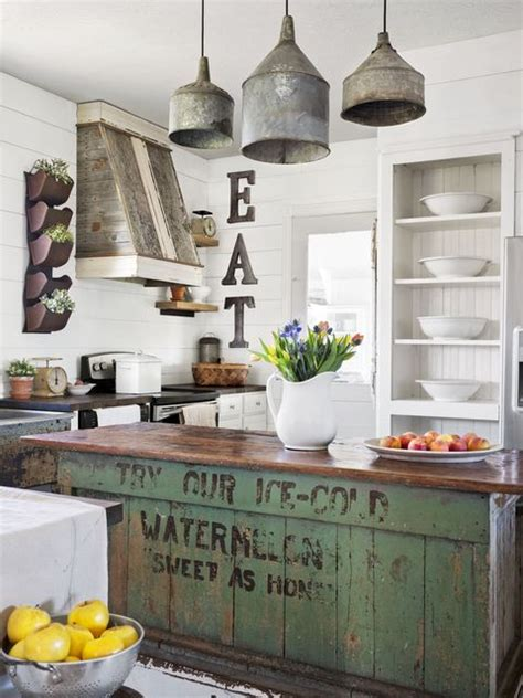 If so these 23 rustic farmhouse decor ideas will make your day! 34 Farmhouse Style Kitchens - Rustic Decor Ideas for Kitchens