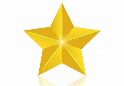 Star Vector Golden 3d Clipart Gold Graphics