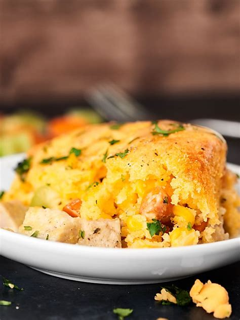 Finding a moist cornbread recipe that is also sweet isn't as hard as you think. Leftover Turkey Cornbread Casserole Recipe - Thanksgiving Leftovers