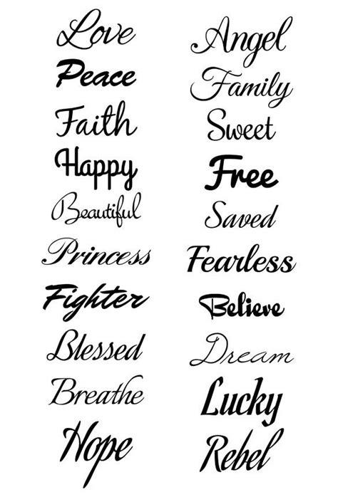 Script Temporary Tattoo Set | Teen Party Favors | Tipografias tatuaje, Fuentes para tatuajes