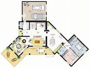 maison moderne contemporaine plan endroits a visiter With plan de maison 200m2 13 maison sims 4 plan