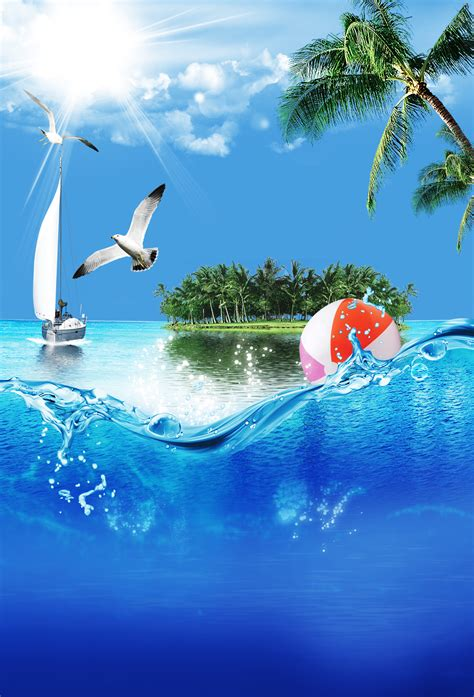 great seaside party poster seabirds sea island